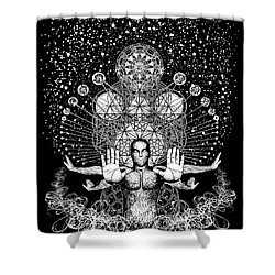 Push Away The Distractions  Shower Curtain