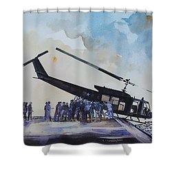 Pushover - South China Sea 1975 Shower Curtain
