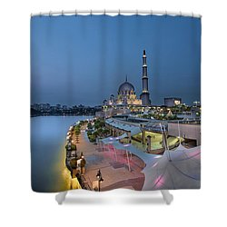 Putra Mosque At Blue Hour Shower Curtain by David Gn