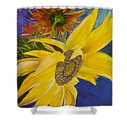 Puttin' On A Sunny Face Shower Curtain