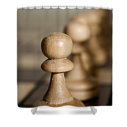 Pawns Shower Curtain