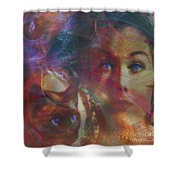 Pyewacket And Gillian - Square Version Shower Curtain by John Beck