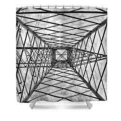 Pylon Shower Curtain by Howard Salmon