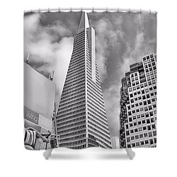 Pyramid Bw Shower Curtain