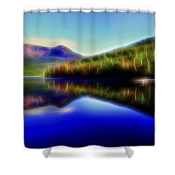 Pyramid Mirror 1 Shower Curtain by William Horden