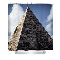 Pyramid Of Rome Shower Curtain by Joan Carroll