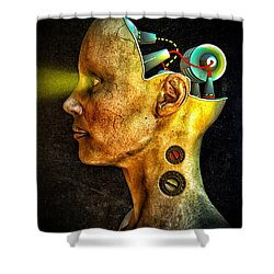 Pythia Shower Curtain by Bob Orsillo