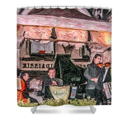 Quadri Orchestra Venice Shower Curtain by Liz Leyden