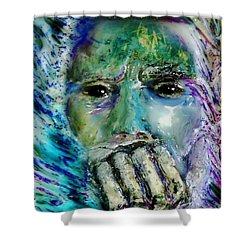 Quadro Inverso Shower Curtain by Bob Money