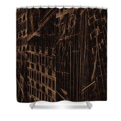 Shower Curtain featuring the digital art Quake - Ground Zero by GJ Blackman