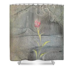 Shower Curtain featuring the painting Quake by Mike Breau