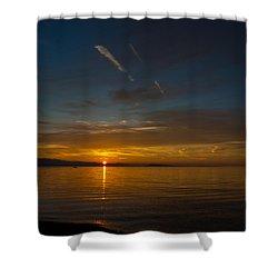 Qualicum Sunset II Shower Curtain by Randy Hall