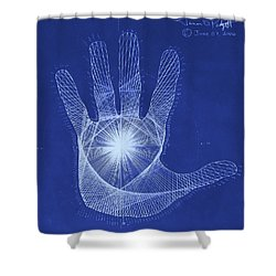 Quantum Hand Through My Eyes Shower Curtain