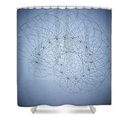 Quantum Nautilus Spotlight Shower Curtain
