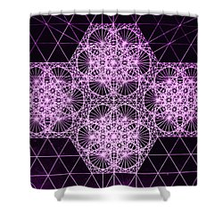 Quantum Snowfall Shower Curtain