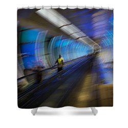 Shower Curtain featuring the photograph Quantum Tunneling by Alex Lapidus
