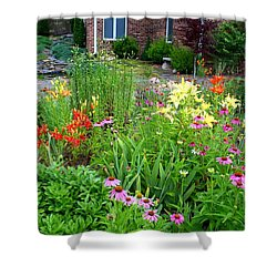 Shower Curtain featuring the photograph Quarter Circle Garden by Kathryn Meyer