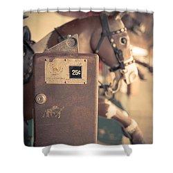 Quarter Horse Shower Curtain by Edward Fielding
