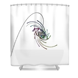 Quaternionic Blow 1 Shower Curtain by Marc Philippe Joly