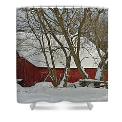 Quebec Winter Shower Curtain by Joshua McCullough