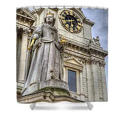Shower Curtain featuring the photograph Queen Anne Statue by Tim Stanley