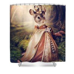 Queen Shower Curtain by Cindy Grundsten