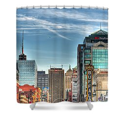 Queen City Downtown Shower Curtain