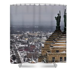 Queen City Winter Wonderland After The Storm Series 0013 Shower Curtain