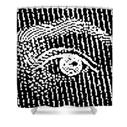 Queen Elizabeth's Eyes Shower Curtain
