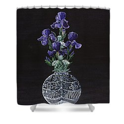 Queen Iris's Lace Shower Curtain