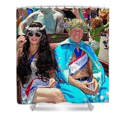 Shower Curtain featuring the photograph Queen Mermaid-king Neptune by Ed Weidman