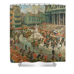 Queen Victorias Diamond Jubilee, 1897 Shower Curtain by G.S. Amato