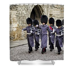 Queens Guard Shower Curtain by Heather Applegate