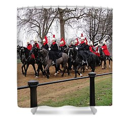 Shower Curtain featuring the photograph Queen's Guard by Tiffany Erdman