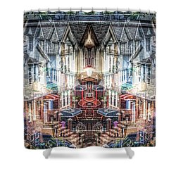 Queens Palindrome Houses Shower Curtain