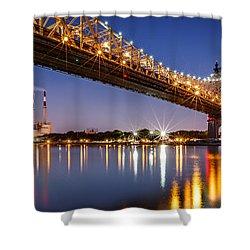 Queensboro Bridge Shower Curtain by Mihai Andritoiu