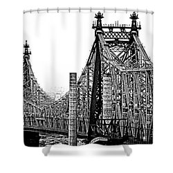 Queensborough Or 59th Street Bridge Shower Curtain