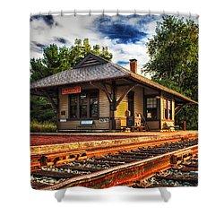 Queponco Railway Station Shower Curtain