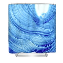 Query Blue 2 Shower Curtain