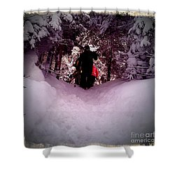 Quest For Powder Shower Curtain by James Aiken