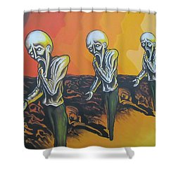 Question To Wonder Shower Curtain by Michael  TMAD Finney