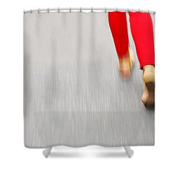 Quick Step Shower Curtain by Karol Livote