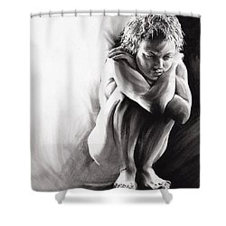 Quiescent II Shower Curtain by Paul Davenport
