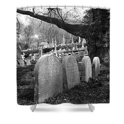 Quiet Cemetery Shower Curtain by Jennifer Ancker