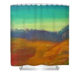 Shower Curtain featuring the painting Quiet by Keith Thue