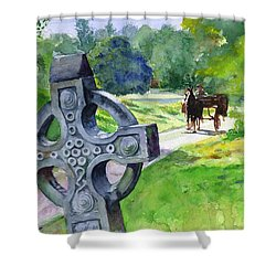 Quiet Man Watercolor 2 Shower Curtain by John D Benson