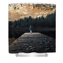 Quiet Moments Series Shower Curtain