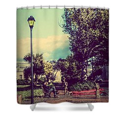 Quiet Reflections Shower Curtain by Melanie Lankford Photography