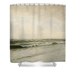 Quiet Seascape Shower Curtain by William Trost Richards