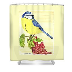 Shower Curtain featuring the painting Quietly Watching by Tracey Williams